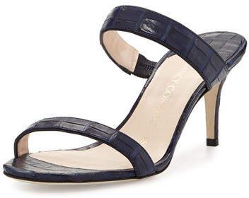 Nancy Gonzalez Maria Crocodile Mule Sandal