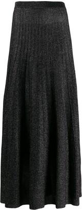 Joseph Glitter Effect Pleated Skirt