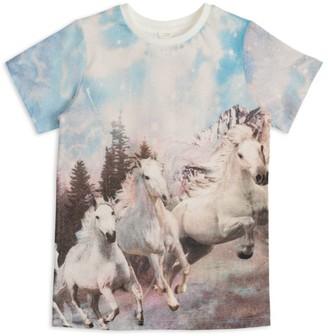 Stella Mccartney Kids Horse Print T-Shirt (3-14 Years)