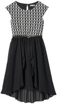 Speechless Girls 7-16 & Plus Size High-Low Lace Skater Dress