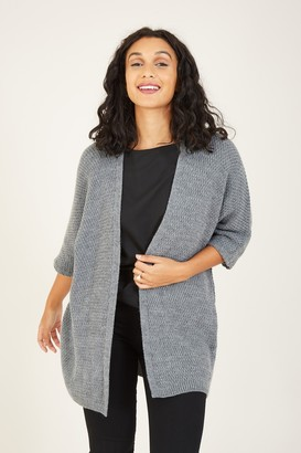 Knitted Batwing Open Cardigan
