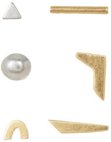 Madewell Magic Hour Mismatched Earrings - Set of 6