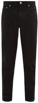 Burberry Straight-leg Cotton-blend Jeans - Mens - Black