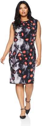 Rachel Roy Women's Plus Size Printed Draped Dress