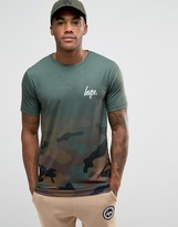 Hype T-shirt In Faded Camo