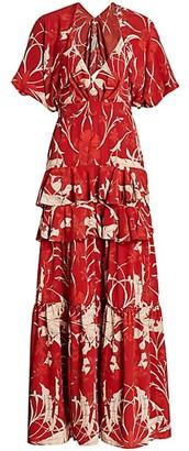 Johanna Ortiz Chief Of All Muses Ruffled Maxi Dress