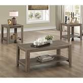 Monarch Specialties Reclaimed-Look Three Pieces Table Set I 7914P