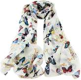 Feelontop® Multicolor Long Chiffon Butterfly Print Decoration Scarves Wraps for Women