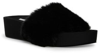 STEVEN NEW YORK Raine Faux Fur Slide Sandal