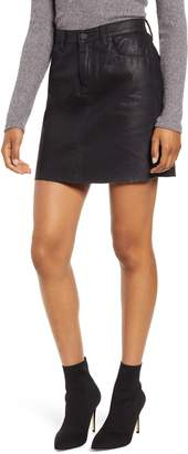 Blank NYC BLANKNYC Reptile Texture Coated Miniskirt