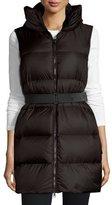 Moncler Glykeria Long Hooded Puffer Vest