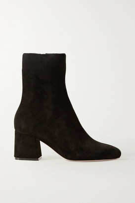 PORTE & PAIRE Suede Ankle Boots - Black