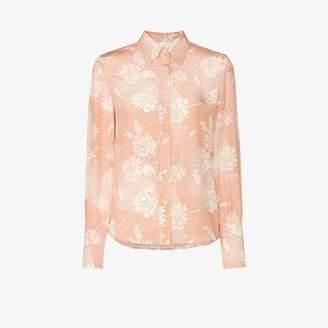 Chloé floral print silk shirt