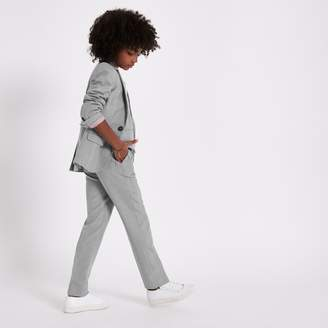 River Island Boys Grey check suit trousers