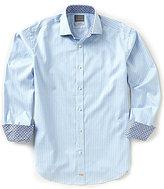Thomas Dean Stripe Long-Sleeve Woven Shirt
