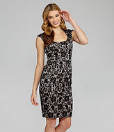 Jax Cap-Sleeve Lace Banded Dress