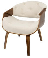 Lumisource Curvo Mid-Century Accent Chair