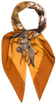Hermes Belle Chasse Cashmere Silk Scarf
