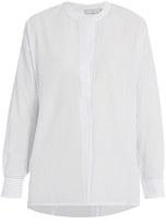 Vince Striped gathered-back cotton shirt