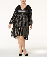 Melissa McCarthy Trendy Plus Size Metallic Shift Dress