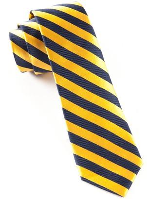 Tie Bar Twill Stripe Navy Tie