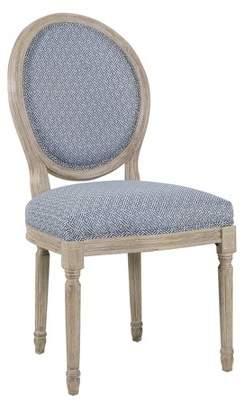 HomePop Louis Round Back Chair Diamond Blue