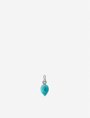 Monica Vinader Fiji Bud mini sterling silver and turquoise pendant