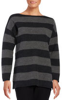 Eileen Fisher Petite Striped Boatneck Top