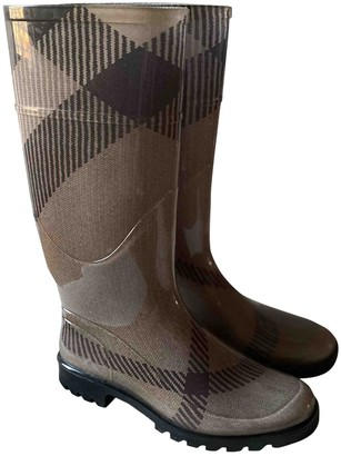 Burberry Brown Rubber Boots