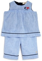 Armani Junior Infant Girls' Linen Tunic & Shorts Set - Sizes 12-36 Months