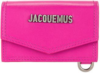 Jacquemus Le Porte Azur Neck Wallet in Pink | FWRD