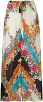Gucci patterned palazzo trousers