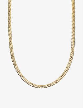 Missoma Camail 18ct gold-plated snake chain necklace