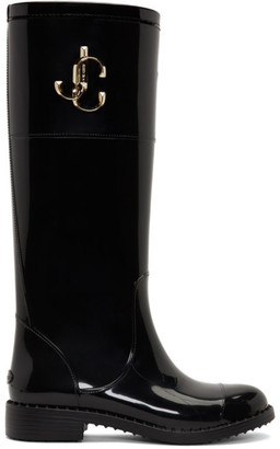 Jimmy Choo Black Edith Tall Boots