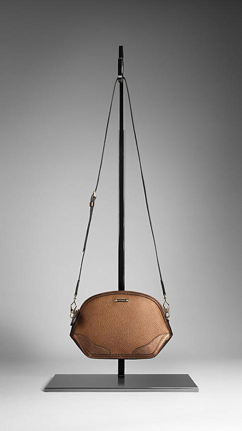 Burberry The Mini Orchard in Metallic London Leather