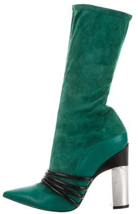 Prabal Gurung Leather Mid-Calf Boots