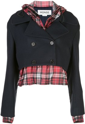 Monse Cropped Layered Jacket