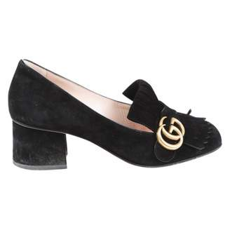 Gucci Marmont Black Suede Heels