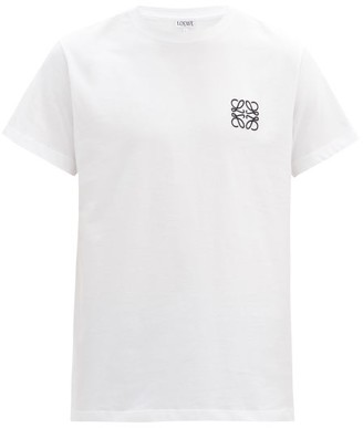 Loewe Anagram-embroidered Cotton-jersey T-shirt - White