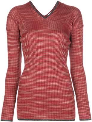 M Missoni v-neck ribbed knit jumper