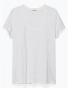 American Vintage White Jacksonville Short Sleeve Tee - S - White