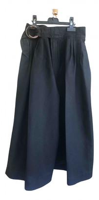 Saint Laurent Black Cloth Shorts
