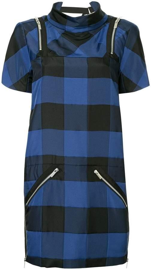 Sacai short checked dress