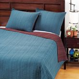 Teal/Plum Reversible Kantha Bedding