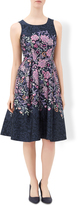Monsoon Millie Print Fit And Flare Dress