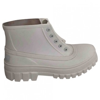 Givenchy White Rubber Ankle boots