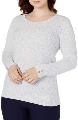 Karen Scott Diamond Cable-Knit Sweater