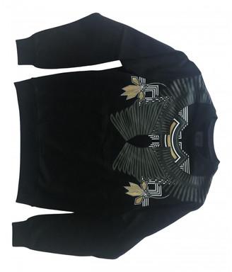 Les Hommes Black Cotton Knitwear & Sweatshirts