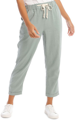 Miss Shop Drawstring Linen Blend Pant