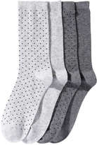Joe Fresh Women's 4 Pack Ankle Socks, Print 1 (Size 9-11)